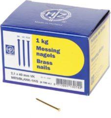 Hjz Messing nagels verloren kop 2.1 x 40mm 1kg (Prijs per doos)