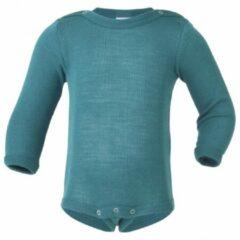Engel - Baby-Body Langarm Mit Druckverschluss Schulter - Zijden ondergoed maat 74/80, turkoois