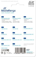 MediaRange MR962 flashgeheugen 8 GB SDHC Klasse 10