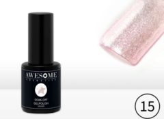 Awesome #15 Roze Transparante fijne glitter Gelpolish - Gellak - Gel nagellak - UV & LED
