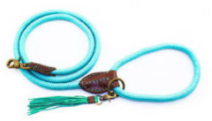 Dog with a Mission Dwam Looplijn Turquoise 155x1.0 cm