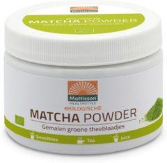 Mattisson Biologische matcha powder poeder groen tea 125 Gram