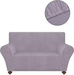 Grijze VidaXL Stretch meubelhoes voor bank grijs polyester jersey