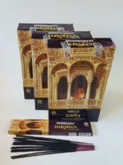 Gouden Darshan Bharath - 36 pakjes van 15 gram: ongeveer 500 wierookstokjes