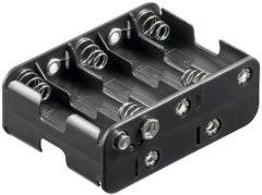 Goobay 12460 Batterijhouder 10x AA (penlite) Drukknopaansluiting (l x b x h) 77 x 60 x 32 mm