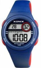 Xonix digitaal kinder horloge Blauw/Rood BAH-006