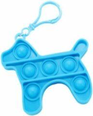 Blauwe JIN Fidget sleutelhanger Hond