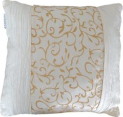 Creme witte Essenza Maharadja - Sierkussen - 45x45 cm - Creme