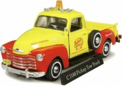 Chevrolet C3100 Pick Up Tow Truck ( Super Shell ) Geel / Rood 1-43 Cararama