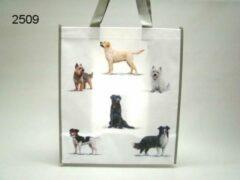 Witte Geharo Shopper tas honden