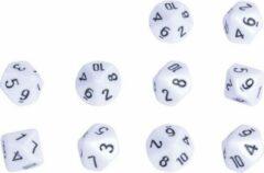 Witte Eduplay Reken dobbelstenen 10 zijdes 10 stuks