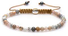 Karma Jewelry Karma Armband Spiral Sandy Shell White Crystal