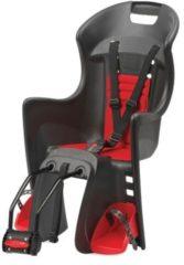 Polisport Kindersitz Boodie FF, schwarz/rot, Rahmenbefestigung