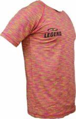 Legend Sports Dryfit Sportshirt Melange Geel Maat S