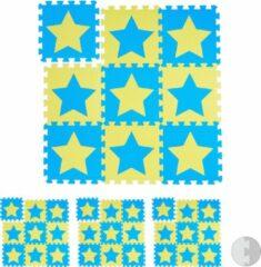 Blauwe Relaxdays 36 x puzzelmat ster - speelmat - speelkleed - vloerpuzzel - speeltapijt – kinder