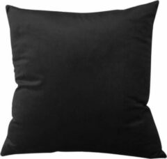 TAQI Velvet Terracotta Kussenhoes -Sier Kussensloop - Fluweel - Super Zachte Korte Fleece - 45 x 45 cm - Zwart
