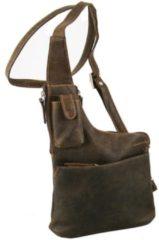 Greenland NATURE Westcoast Umhängetasche /Bodybag Leder 20 cm Damen braun