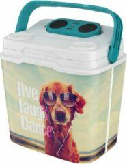 """LifeStory Speakooler koelbox met Bleutooth speaker """"Dog"""" 29 liter"""