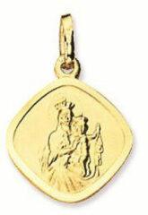 Religious Geelgouden scapuliermedaille 12 mm - Ruitvorm 247.0001.12