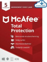 McAfee Total Protection - 12 maanden/5 apparaten - Nederlands - PC/Mac Download