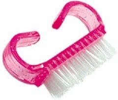 Roze Merkloos / Sans marque Kunststoffen nagelborstel, stofvrije nagels voor beste hechting van acrylnagels, gelnagels, gelnagellak.