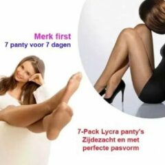 Merkloos / Sans marque 7-Pack Lycra panty's Zijdezacht en met perfecte pasvorm | Kleur Hazel | 36-40