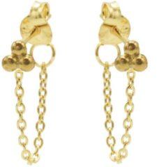 Karma Jewelry Karma Oorbellen Chain Triple Dots Goud