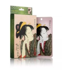 Witte Mitomo Japan Mitomo™ Camellia Oil & Matcha Gezichtsmasker - Anti Aging Face Mask - Gezichtsverzorging Masker