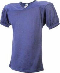 Marineblauwe MM American Football Trainings Shirt - Navy Blauw - XX-Large