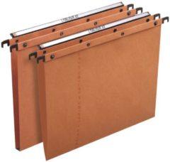 ELBA Hangmappen met drukknoppen Azo Ultimate A4 Oranje Kraftkarton Ophangmaat 330 mm 23 5 x 33 cm 25 Stuks