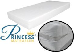 Witte Princessmatrassen Princess -Baby-Ledikantmatras HR40 Koudschuim - 60x120x10 cm - Anti-allergische wasbare hoes met rits