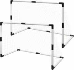 Merkloos / Sans marque Mini voetbal goal voor Kinderen 91x48x61 cm 2 STUKS - Voetbaldoel - Voetbalgoal