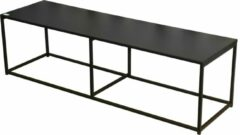 Gebor Tv-tafel – Tv-meubel – Mediameubel – Veel Ruimte – 2 Verdiepingen – Strak Design – Metaal – Zwart – 140x40x40cm