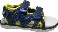 Marineblauwe Naturino velcro sandalen sport 549 navy geel mt 29