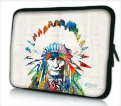 Grijze Laptophoes 11,6 inch Indiaan - Sleevy - laptop sleeve - laptopcover - Collectie 250+ designs