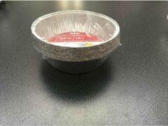 Zilveren Royal ware by Farla Aluminium ronde voedsel containers, 380ml - verpakking van 10 containers