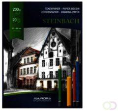 Tekenblok Aurora 27x36cm 20v 200gr Steinbach papier
