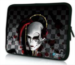 Grijze Sleevy 10 laptop/tablet hoes Venetiaans masker - tabletsleeve - tablet sleeve - ipad sleeve