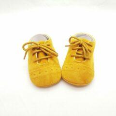 Merkloos / Sans marque Baby schoen donker geel 11 cm Maat 18 0-11 maanden