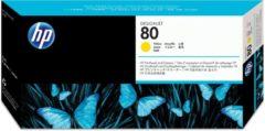 Gele HP 80 - Inktcartridge / Geel + Reiniger (C4823A)