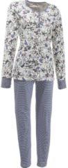 ESPRIT Schlafanzug Single-Jersey Esprit blau/creme