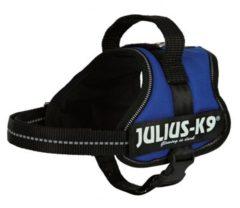 Blauwe Julius k9 power-harnas voor hond / tuig voor voor labels blauw minimini/40-53 cm
