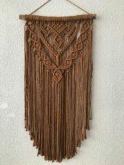 Macramey Macrame muur opknoping , home décor, bukuri wand decoratie - 152 - donker okker