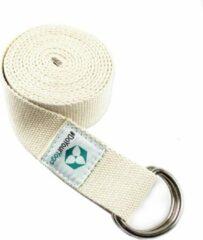 #DoYourYoga - Yogariem - »Madira« - 100% katoen met stabiele metalen ringsluiting - 260 x 3,8 cm - beige