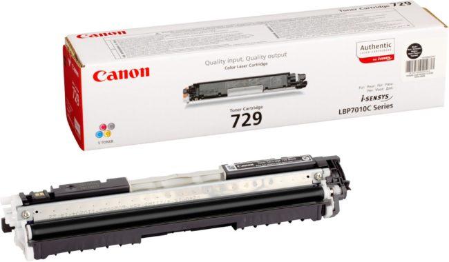Afbeelding van Zwarte Canon 729-BK - Tonercartridge / Zwart