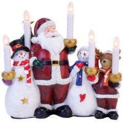 Lichterbogen Weihnachtsmann und Freunde Star Trading Mehrfarbig
