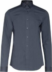 Donkergrijze WE Fashion Heren slim tall fit overhemd