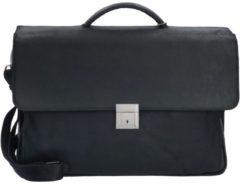 30er Serie Aktentasche II Leder 3 Fächer 41 cm Laptopfach Plevier schwarz