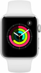 Apple Watch Series3 GPS 42mm Aluminium Case with white Sport Band Smartwatch Zilver