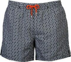Panos Emporio Meander Short 12571 Zwart - Mannen Zwembroek - Zwemshort met ritsen - Zwemshort naar zwemslip - Geen short afdruk tijdens zonnen - Award winning - Designer zwembroek - Gemaakt in Europa - Sneldrogende stof